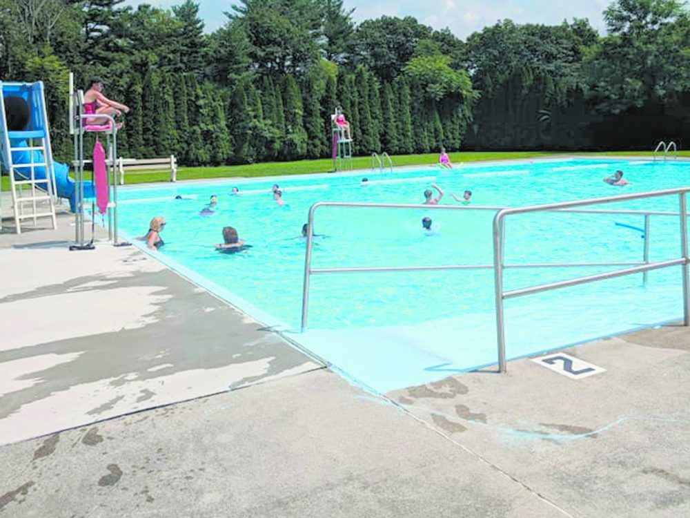 PHOTO COURTESY OF FACEBOOK Patrons enjoy a dip in the Tower-Porter Community Pool on a recent warm day. While a community pool, officials of the Porter-Tower Recreation Committee are sometimes caught in the middle between Tower City Borough and Porter Township with funds to help keep the pool running.